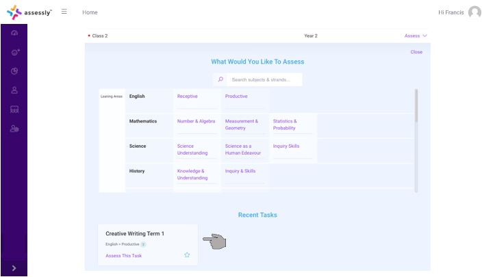 7. You will see any new or ongoing tasks in the 'Recent Tasks' section below.