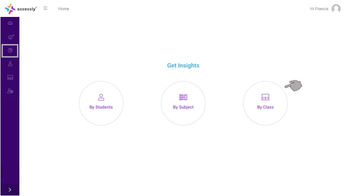 1. To begin viewing Class Insights, click the 'By Class' icon on your dashboard.